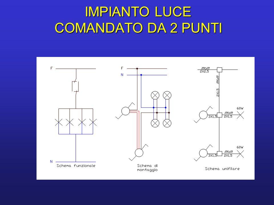 Schema Elettrico Per 4 Punti Luce : Impianti luce comandati da ppt video online scaricare