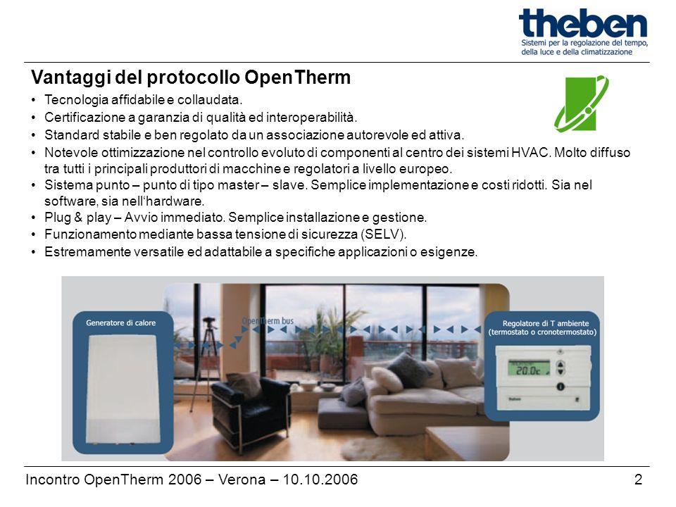 Vantaggi del protocollo OpenTherm