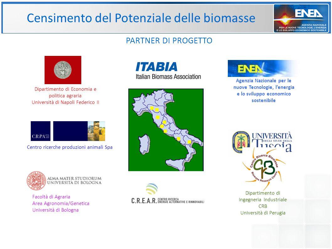 Censimento del Potenziale delle biomasse