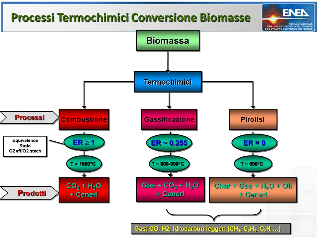 Processi Termochimici Conversione Biomasse