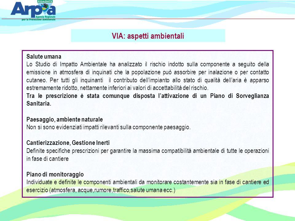 VIA: aspetti ambientali