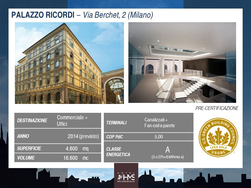 A PALAZZO RICORDI – Via Berchet, 2 (Milano) Commerciale + Uffici