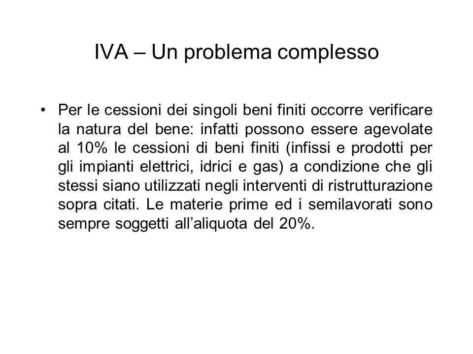IVA – Un problema complesso