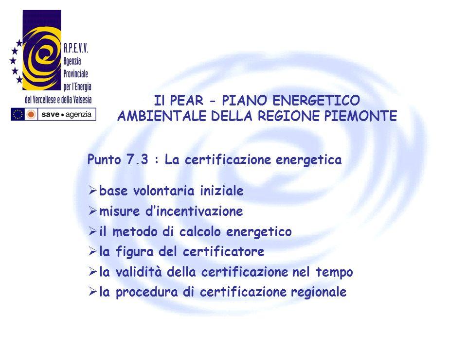 Il PEAR - PIANO ENERGETICO AMBIENTALE DELLA REGIONE PIEMONTE