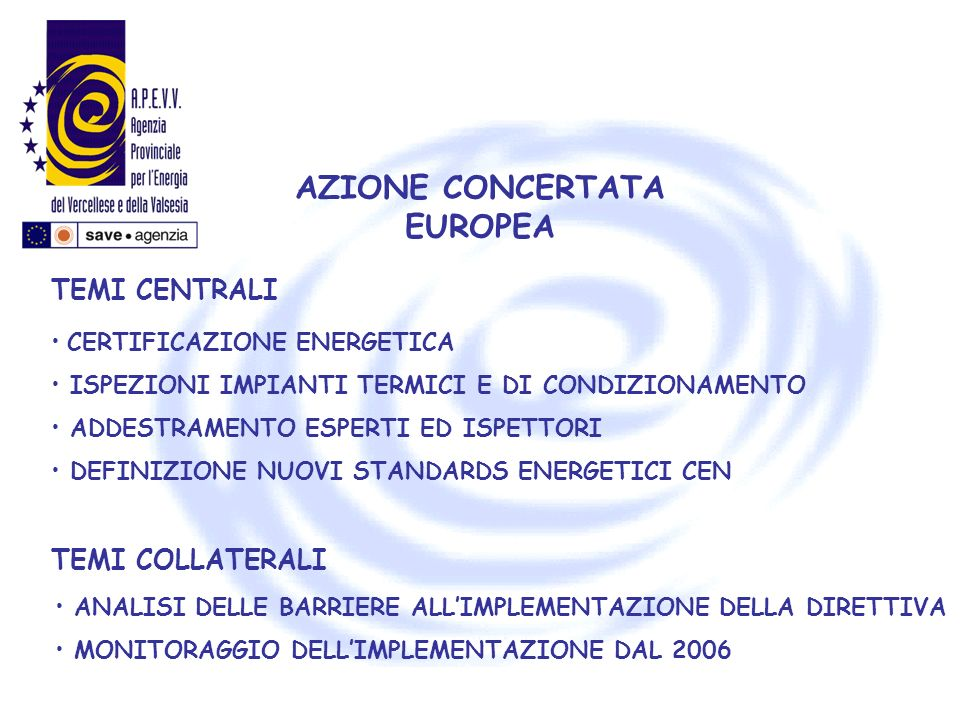 AZIONE CONCERTATA EUROPEA