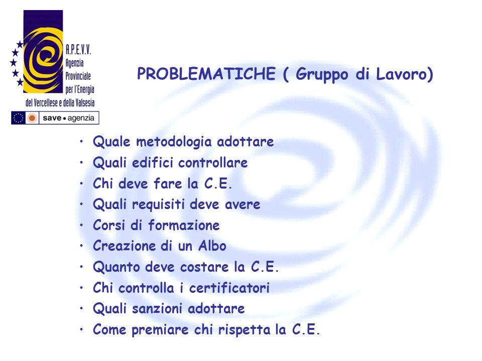 PROBLEMATICHE ( Gruppo di Lavoro)