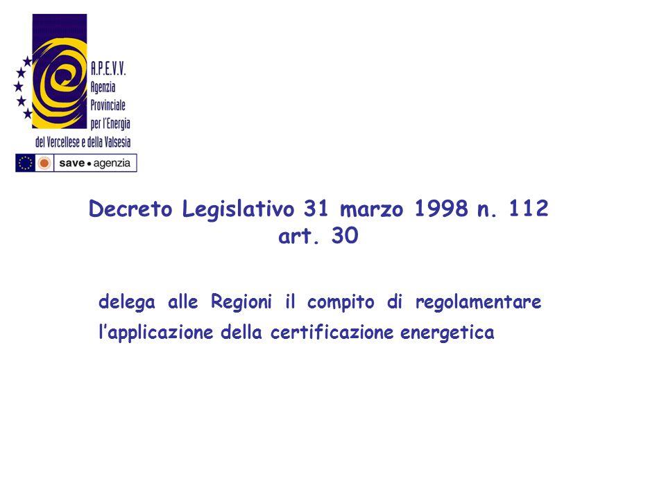 Decreto Legislativo 31 marzo 1998 n. 112