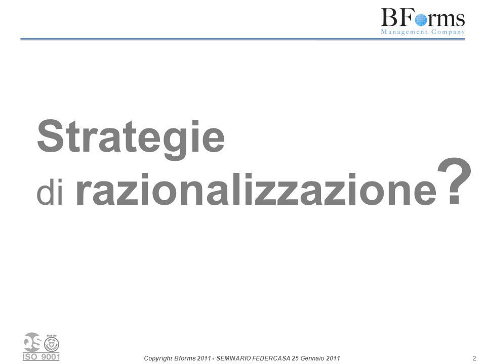 Strategie di razionalizzazione