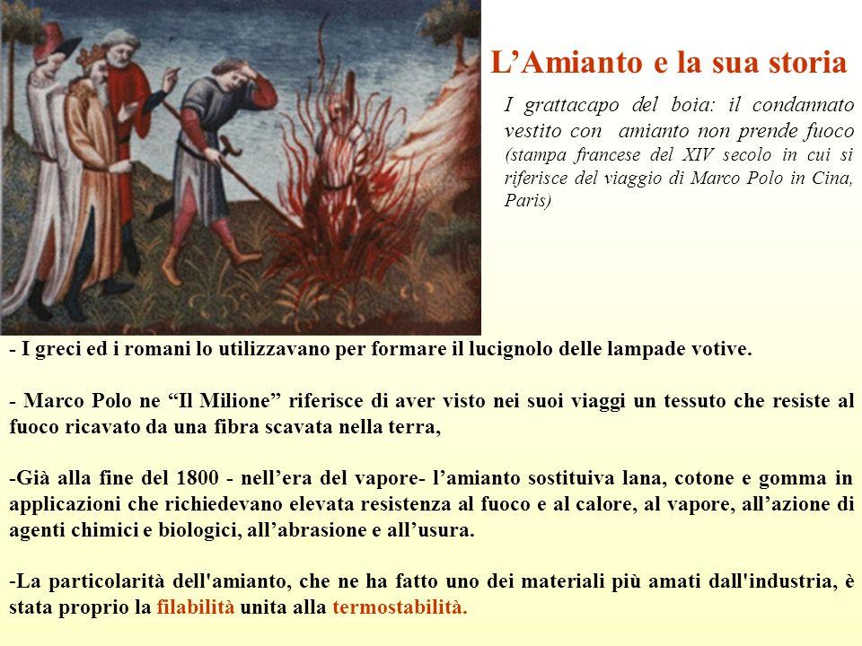 L'Amianto e la sua storia