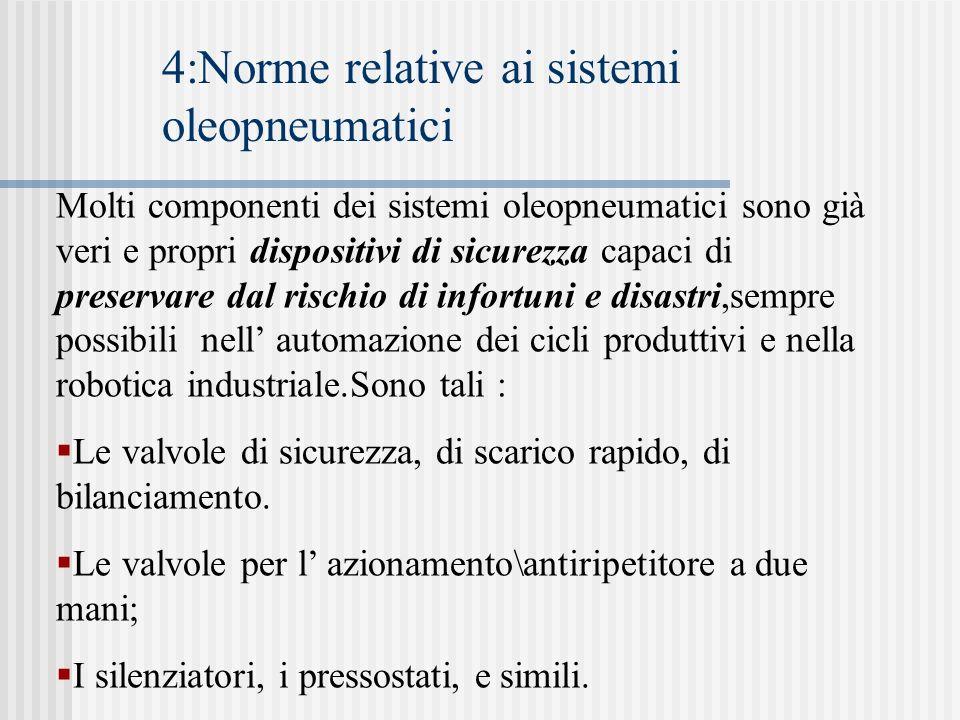 4:Norme relative ai sistemi oleopneumatici