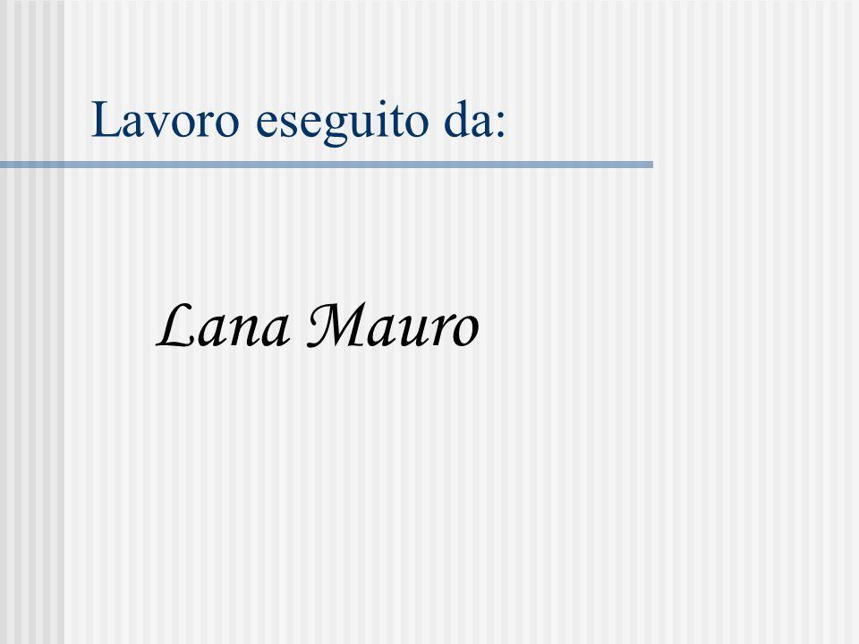 Lavoro eseguito da: Lana Mauro