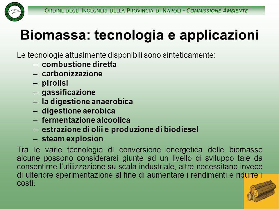 Biomassa: tecnologia e applicazioni
