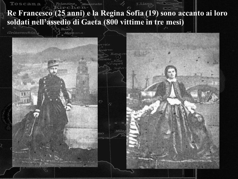 Re Francesco (25 anni) e la Regina Sofia (19) sono accanto ai loro soldati nell'assedio di Gaeta (800 vittime in tre mesi)