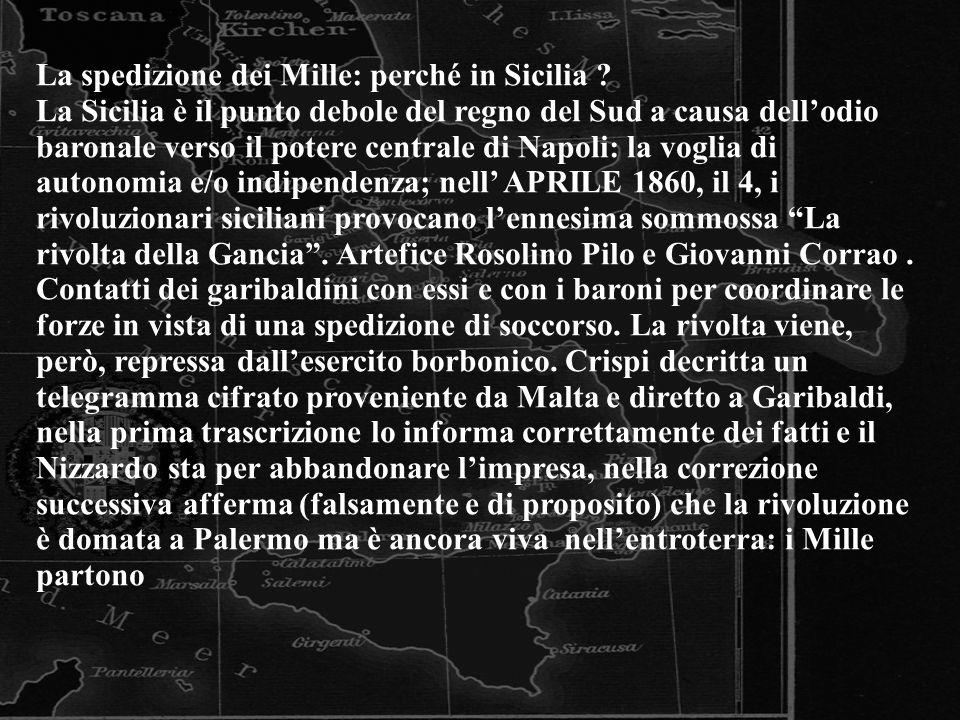 La spedizione dei Mille: perché in Sicilia
