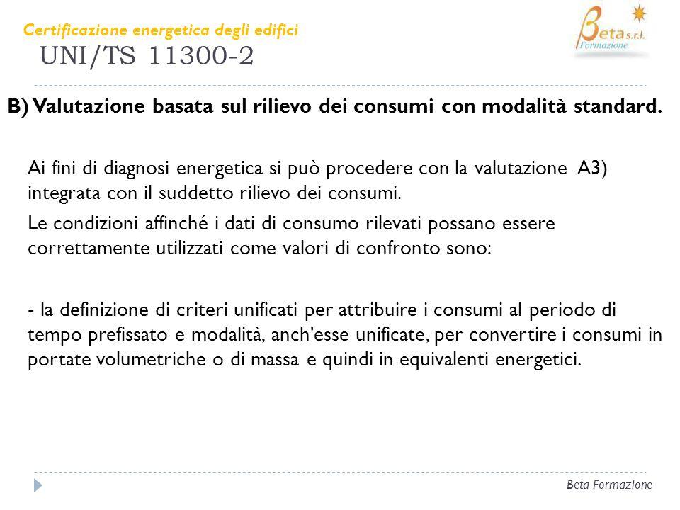UNI/TS 11300-2 Certificazione energetica degli edifici.