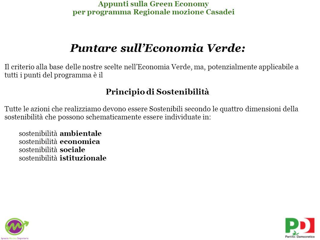 Puntare sull'Economia Verde: