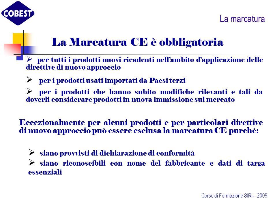 La Marcatura CE è obbligatoria
