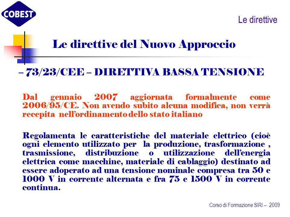 Le direttive del Nuovo Approccio