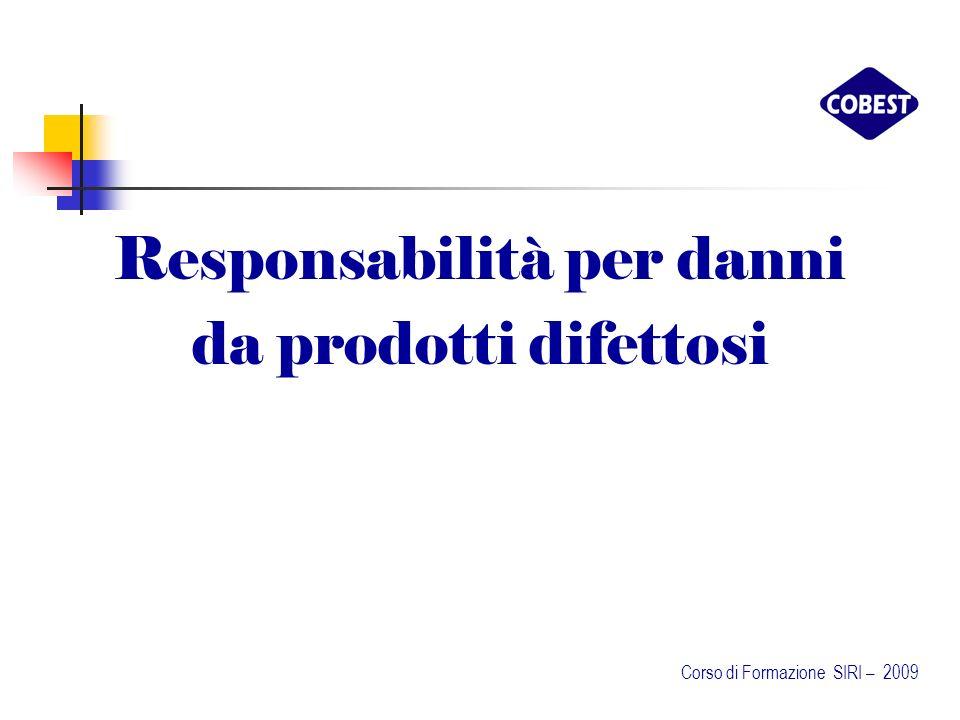 Responsabilità per danni