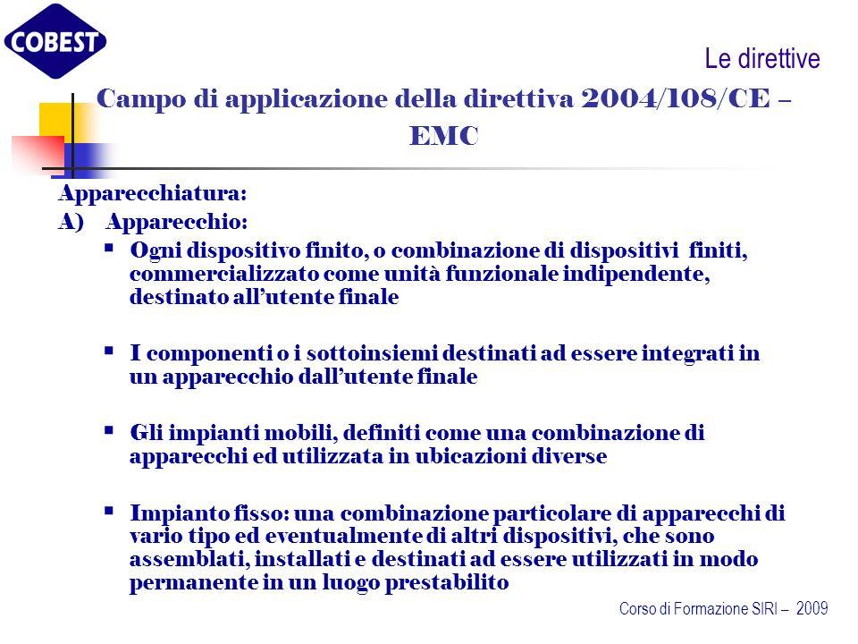 Campo di applicazione della direttiva 2004/108/CE –
