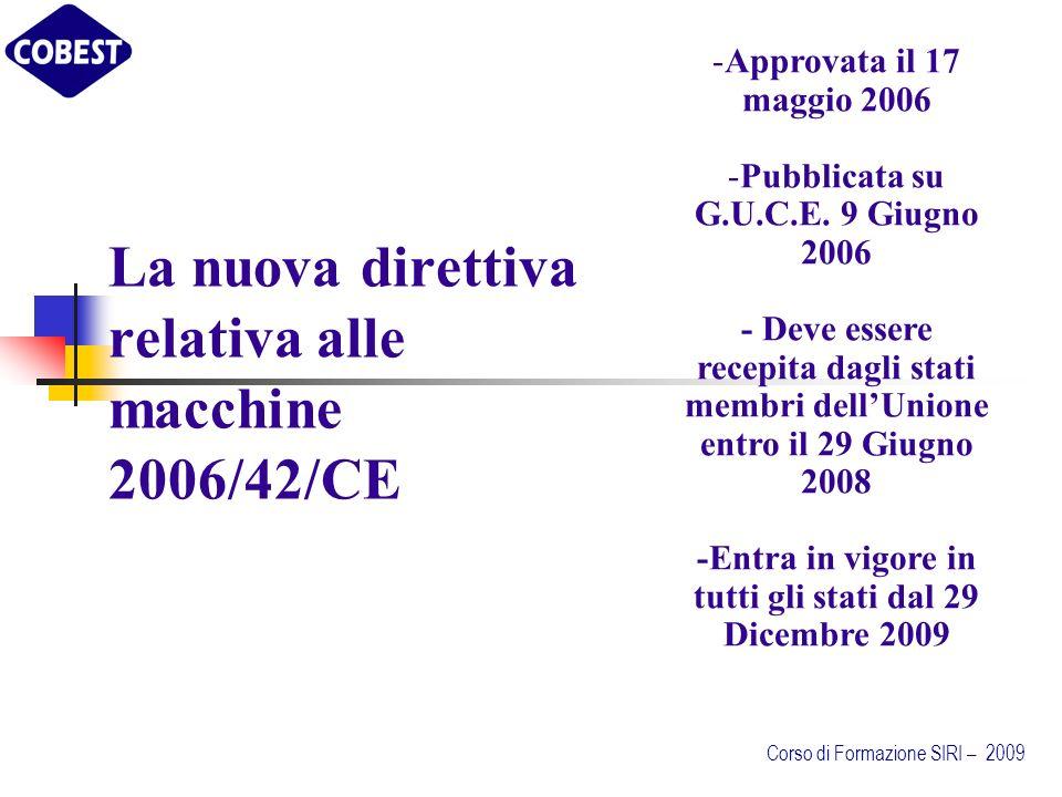 La nuova direttiva relativa alle macchine 2006/42/CE