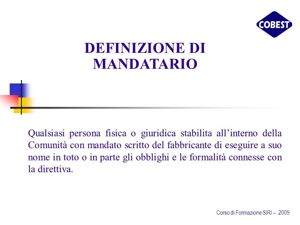 DEFINIZIONE DI MANDATARIO