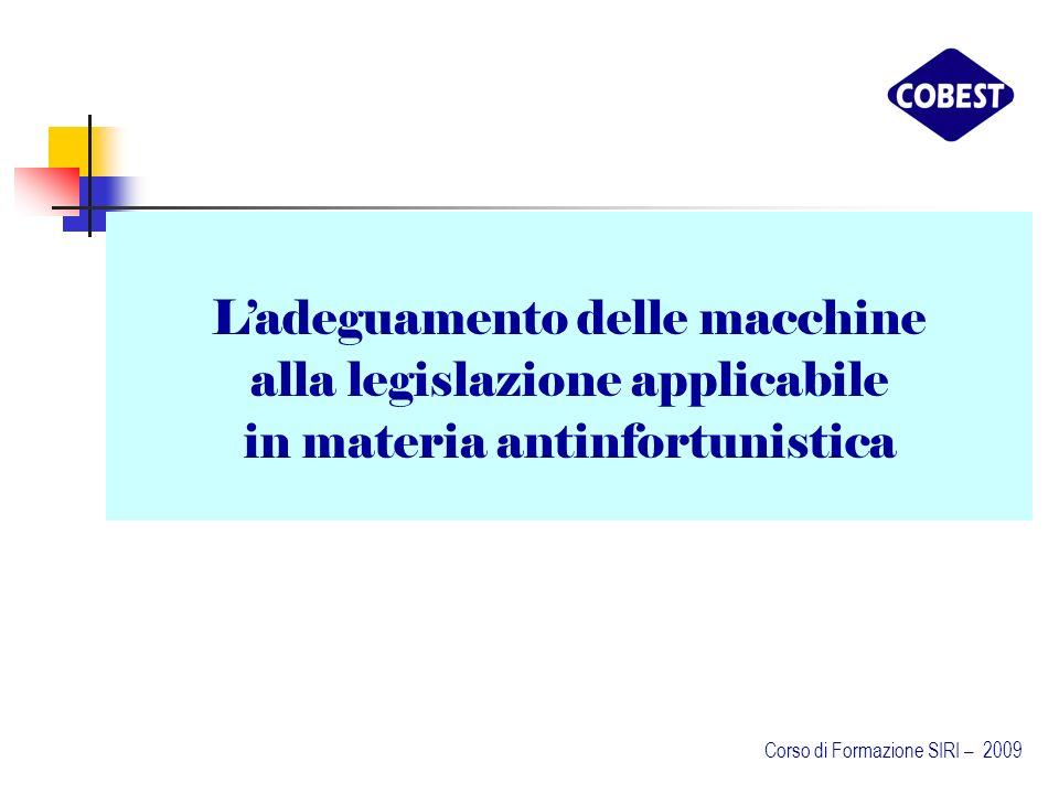 L'adeguamento delle macchine alla legislazione applicabile