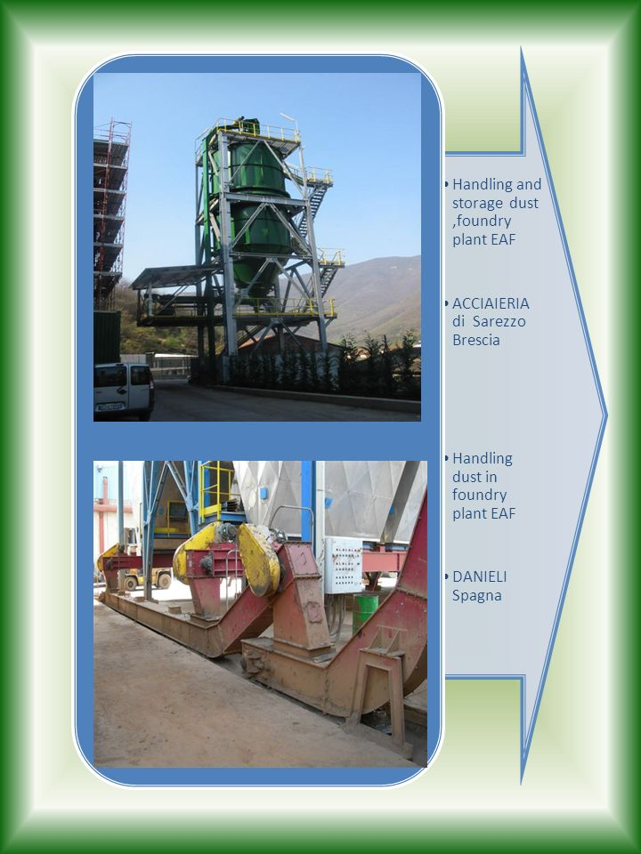 Handling and storage dust ,foundry plant EAF