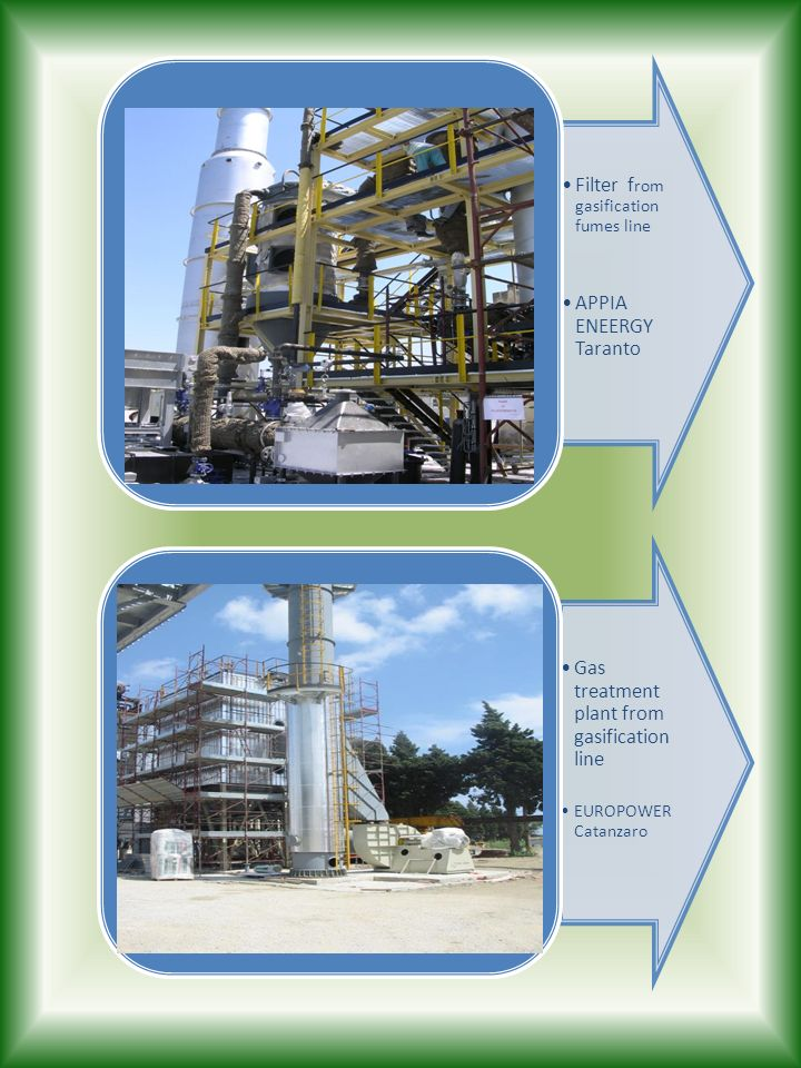 Filter from gasification fumes line APPIA ENEERGY Taranto