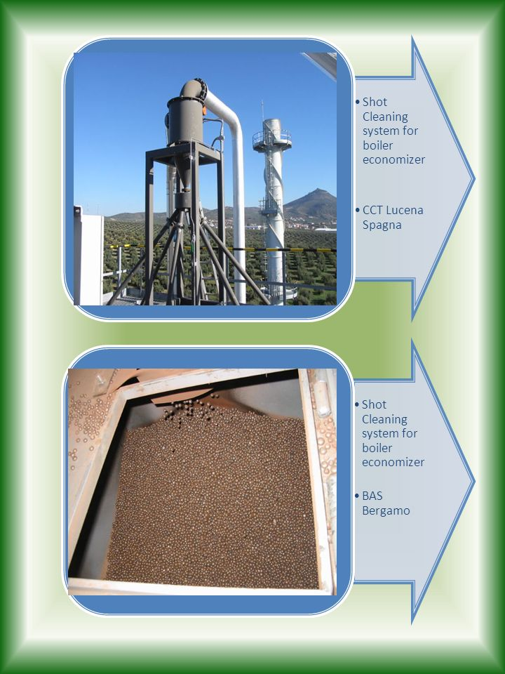 Shot Cleaning system for boiler economizer