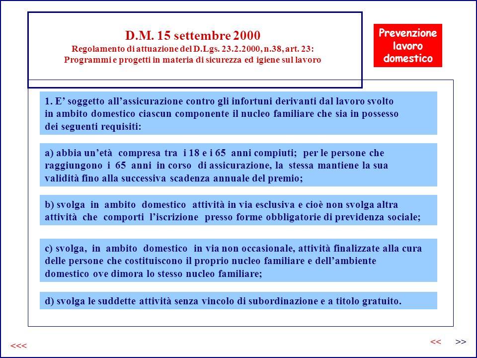 D. M. 15 settembre 2000 Regolamento di attuazione del D. Lgs. 23. 2