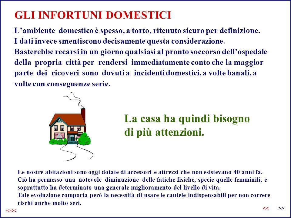 GLI INFORTUNI DOMESTICI
