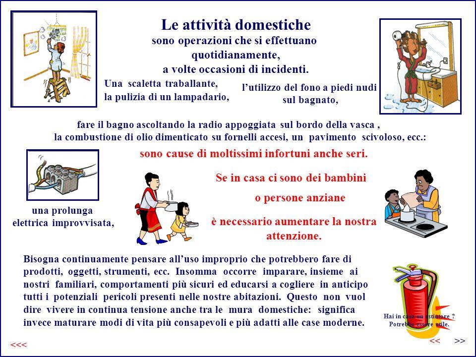Le attività domestiche