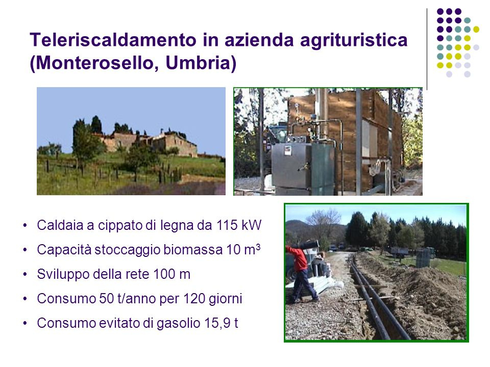 Teleriscaldamento in azienda agrituristica (Monterosello, Umbria)