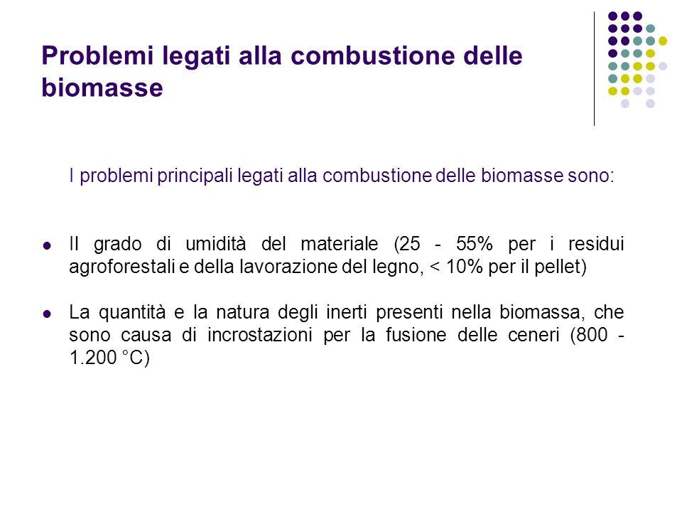 Problemi legati alla combustione delle biomasse