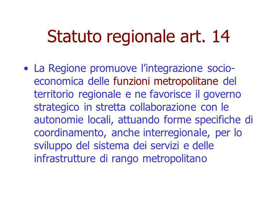 Statuto regionale art. 14