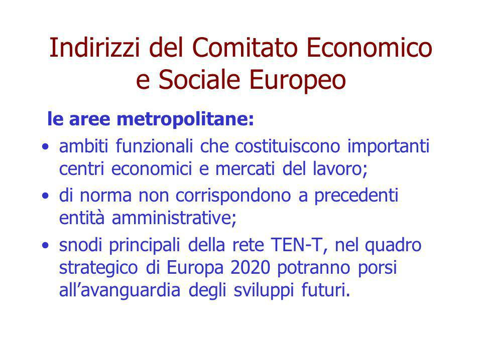 Indirizzi del Comitato Economico e Sociale Europeo