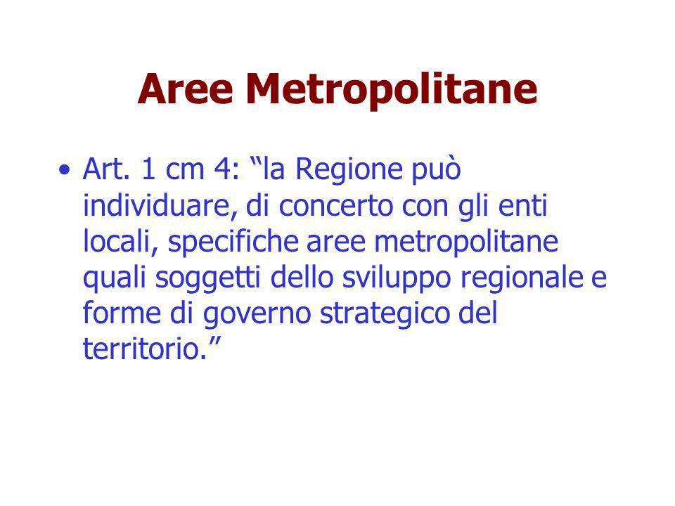 Aree Metropolitane