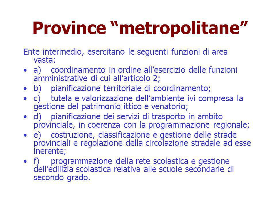 Province metropolitane