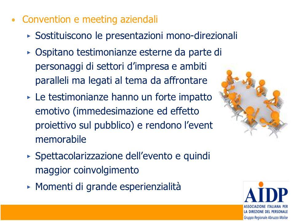 Convention e meeting aziendali