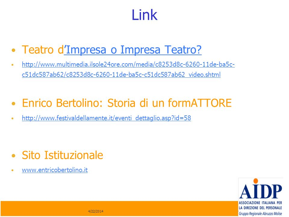 Link Teatro d'Impresa o Impresa Teatro
