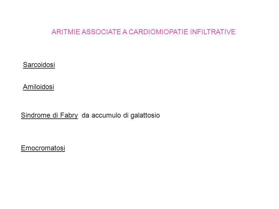 ARITMIE ASSOCIATE A CARDIOMIOPATIE INFILTRATIVE