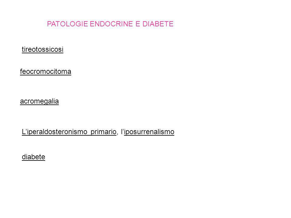PATOLOGIE ENDOCRINE E DIABETE