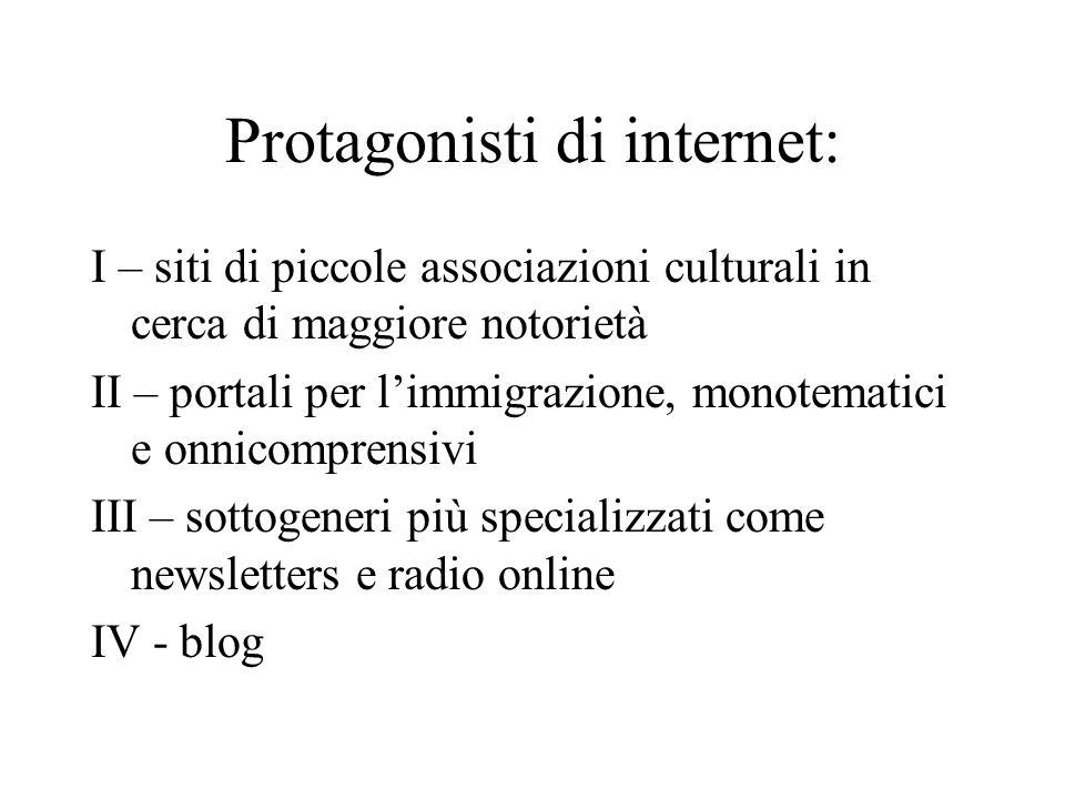 Protagonisti di internet: