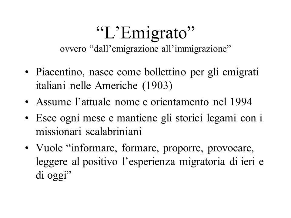 L'Emigrato ovvero dall'emigrazione all'immigrazione