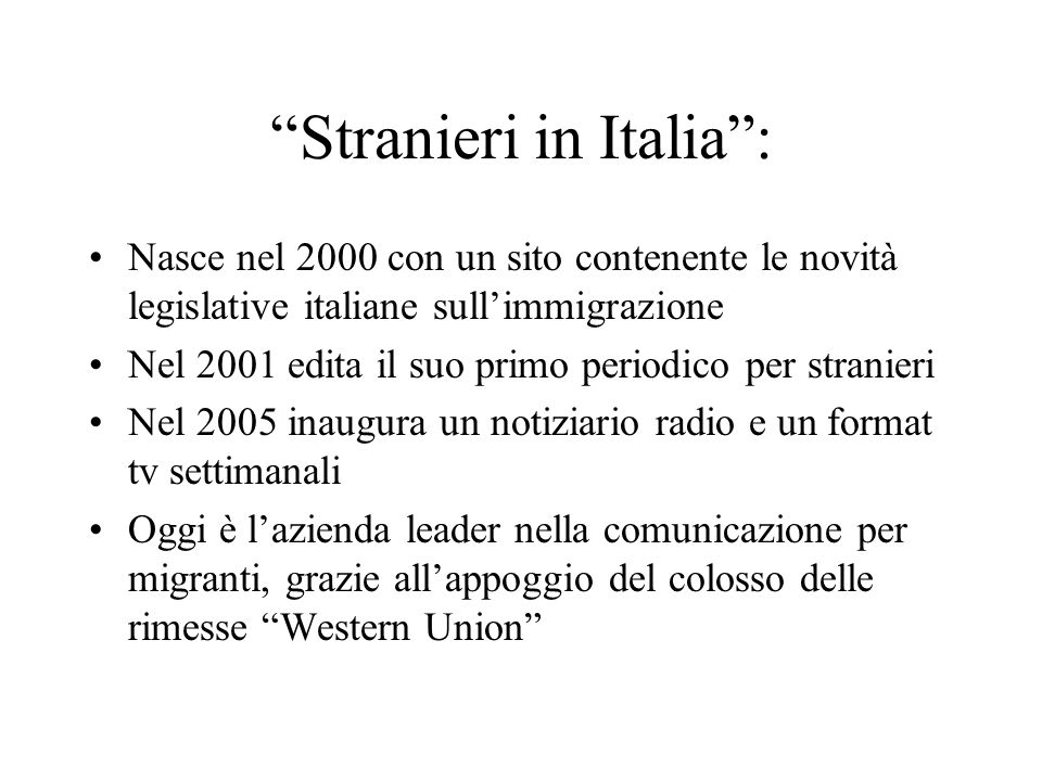 Stranieri in Italia :