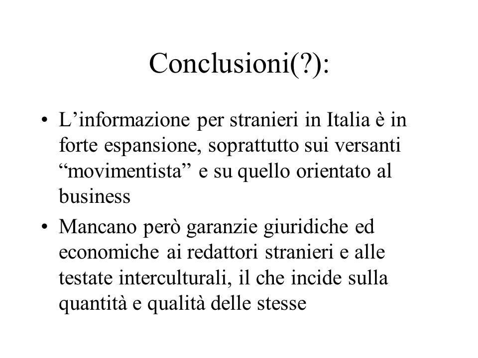 Conclusioni( ):