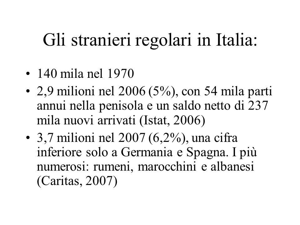 Gli stranieri regolari in Italia: