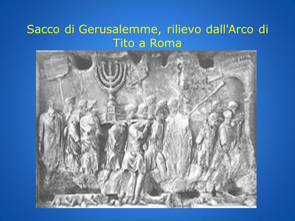 Sacco di Gerusalemme, rilievo dall Arco di Tito a Roma
