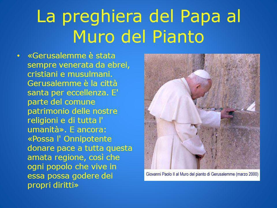 La preghiera del Papa al Muro del Pianto